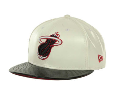 Miami Heat NBA Hardwood Classics Leather DC 9FIFTY Cap Hats