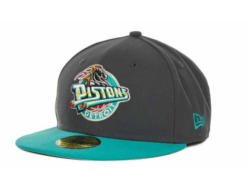 Detroit Pistons New Era NBA Hardwood Classics Graph TC 59FIFTY Cap Hats
