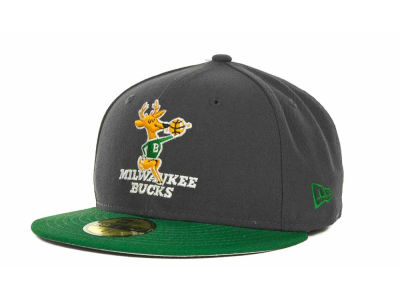 Milwaukee Bucks NBA Hardwood Classics Graph TC 59FIFTY Cap Hats