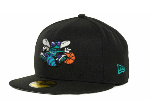 Charlotte Hornets New Era NBA Hardwood Classics Basis 59FIFTY Cap Hats
