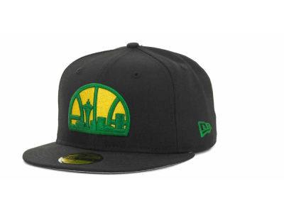 Seattle SuperSonics NBA Hardwood Classics Basis 59FIFTY Cap Hats