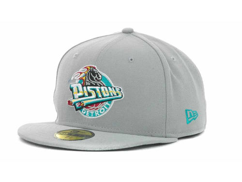 Detroit Pistons New Era NBA Hardwood Classics Basis 59FIFTY Cap Hats