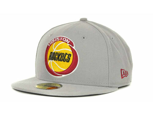 Houston Rockets New Era NBA Hardwood Classics Basis 59FIFTY Cap Hats