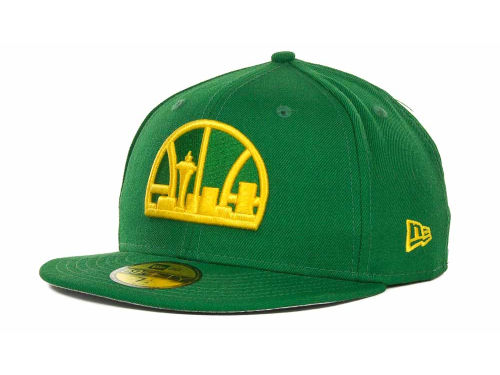 Seattle SuperSonics New Era NBA Hardwood Classics Basis 59FIFTY Cap Hats