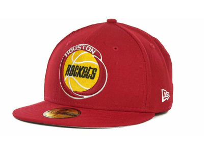 Houston Rockets NBA Hardwood Classics Basis 59FIFTY Cap Hats