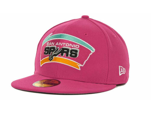 San Antonio Spurs New Era NBA Hardwood Classics Basis 59FIFTY Cap Hats