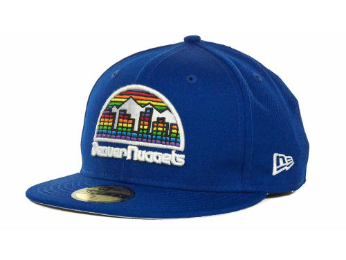 Denver Nuggets New Era NBA Hardwood Classics Basis 59FIFTY Cap Hats
