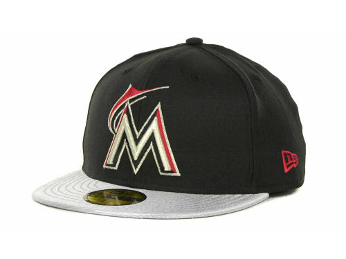 Miami Marlins New Era MLB Sneak Up 59FIFTY Cap Hats