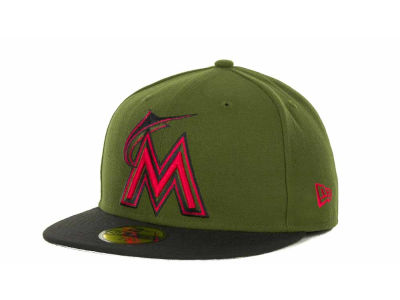 Miami Marlins MLB Sneak Up 59FIFTY Cap Hats