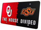 Oklahoma Sooners House Divided Laser Tag Auto Accessories