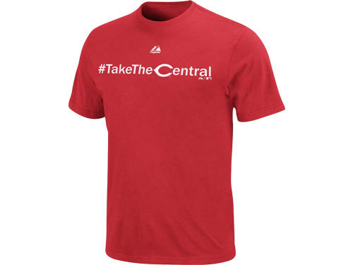 Cincinnati Reds Majestic MLB Take The Central T-Shirt