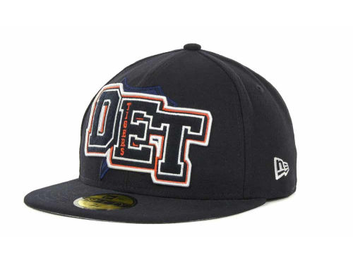 Detroit Tigers New Era MLB Feltn 59FIFTY Cap Hats