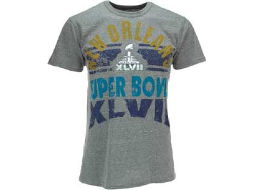 Super Bowl XLVII GIII NFL Super Bowl XLVII Womens The Game Tri Blend T-Shirt