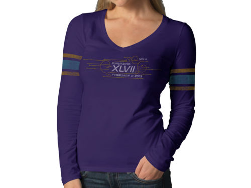 Super Bowl XLVII '47 Brand NFL Womens Super Bowl XLVII Homerun Long Sleeve T-Shirt