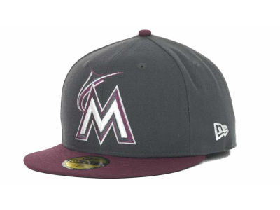 Miami Marlins MLB 2 Tone Basic 59FIFTY Cap Hats