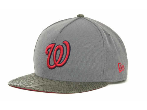 Washington Nationals New Era MLB Snake Strapback 9FIFTY Cap Hats