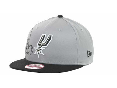 San Antonio Spurs NBA Side Team Up Snapback 9FIFTY Cap Hats