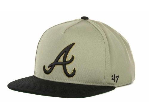 Atlanta Braves '47 Brand MLB Natural 2T Strapback Cap Hats