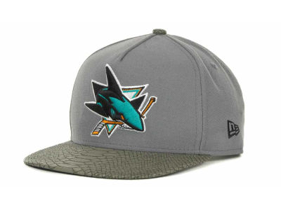 San Jose Sharks NHL Snake Strapback 9FIFTY Cap Hats