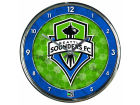 Seattle Sounders FC Wincraft Chrome Wall Clock Home Office & School Supplies