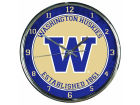 Washington Huskies Wincraft Chrome Wall Clock Home Office & School Supplies