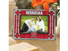 Nebraska Cornhuskers Art Glass Picture Frame Bed & Bath