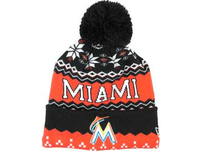 Miami Marlins MLB Jr Weather Advisory Knit Hats