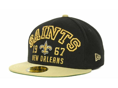 New Orleans Saints NFL Word Knock 59FIFTY Cap Hats