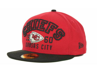 Kansas City Chiefs NFL Word Knock 59FIFTY Cap Hats