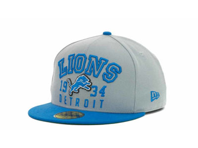 Detroit Lions NFL Word Knock 59FIFTY Cap Hats