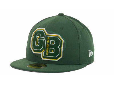 Green Bay Packers NFL Felt'n 59FIFTY Cap Hats