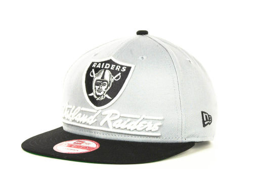 Oakland Raiders New Era NFL Lightning Strike 9FIFTY Cap Hats