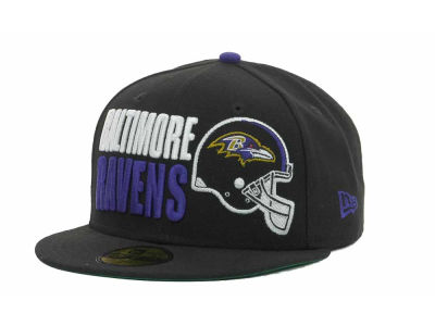Baltimore Ravens NFL Stack The Box 59FIFTY Cap Hats