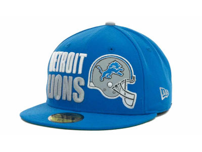 Detroit Lions NFL Stack The Box 59FIFTY Cap Hats