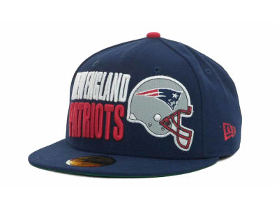 New England Patriots NFL Stack The Box 59FIFTY Cap Hats