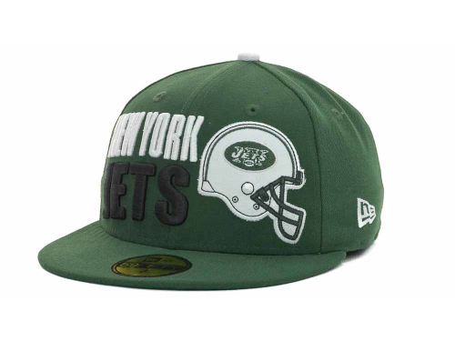 New York Jets New Era NFL Stack The Box 59FIFTY Cap Hats