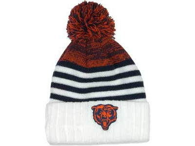 Chicago Bears NFL Snowfall Stripe Knit Hats