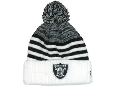 Oakland Raiders NFL Snowfall Stripe Knit Hats