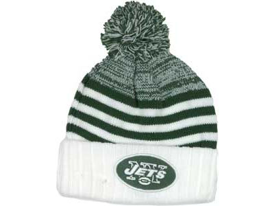 New York Jets NFL Snowfall Stripe Knit Hats