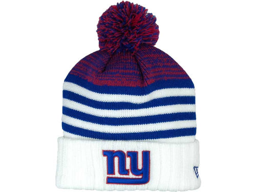 New York Giants New Era NFL Snowfall Stripe Knit Hats