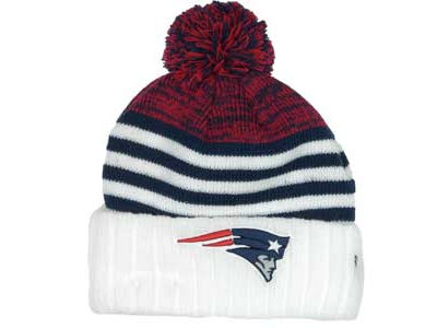 New England Patriots NFL Snowfall Stripe Knit Hats