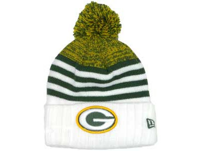 Green Bay Packers NFL Snowfall Stripe Knit Hats