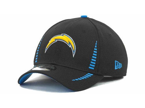 San Diego Chargers New Era Training Camp Black 39THIRTY Cap Hats