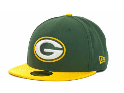 Green Bay Packers NFL Jersey Basic 59FIFTY Cap Hats