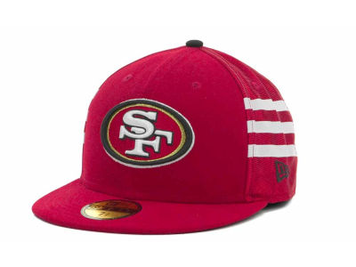 San Francisco 49ers NFL Jersey Stripe 59FIFTY Cap Hats