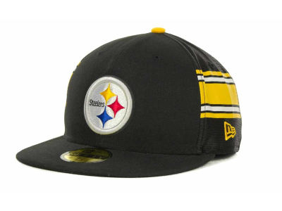 Pittsburgh Steelers NFL Jersey Stripe 59FIFTY Cap Hats