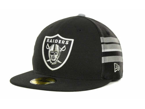 Oakland Raiders New Era NFL Jersey Stripe 59FIFTY Cap Hats