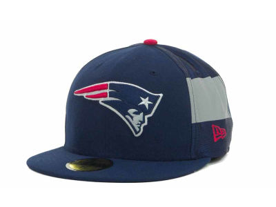 New England Patriots NFL Jersey Stripe 59FIFTY Cap Hats