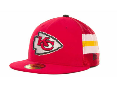 Kansas City Chiefs NFL Jersey Stripe 59FIFTY Cap Hats