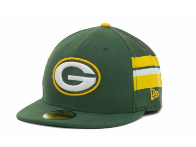 Green Bay Packers NFL Jersey Stripe 59FIFTY Cap Hats